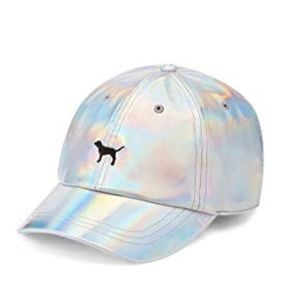 NWT✨ VS PINK Holographic Iridescent SnapBack Hat
